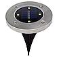 Набор из 4-х солнечных светильников Disk Lights для сада и дома | Уличный светильник на солнечной батарее, фото 9