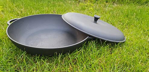Сковорода жаровня с крышкой (d=340мм, h=70мм), фото 2