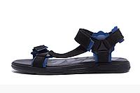 Чоловічі шкіряні сандалі Nike Track black чорні, фото 1
