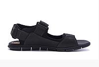 Мужские кожаные сандалии AND Wolfstep black черные, фото 1