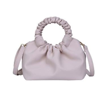 Модная женская сумка через плечо - Бежевая