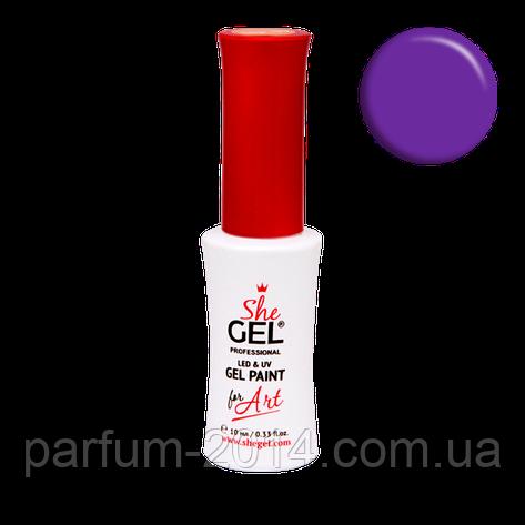 """Гель-краска для рисования Shegel """"Яркий фиолет"""" SPP-23, фото 2"""