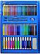 Набор для детского творчества в чемодане из 208 пр. Синий | Набор для рисования Чемоданчик юного художника, фото 5