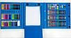 Набор для детского творчества в чемодане из 208 пр. Синий | Набор для рисования Чемоданчик юного художника, фото 7
