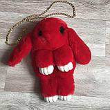 Детская сумка рюкзак меховой заяц, фото 10