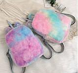 Детский меховой рюкзак Единорог, фото 2