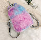 Детский меховой рюкзак Единорог, фото 4
