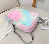 Детский меховой рюкзак Единорог, фото 8