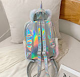 Детский меховой рюкзак Единорог, фото 9