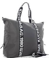 Женская тканевая сумка 9502 grey Тканевые сумки недорого, текстильные сумки, фото 1