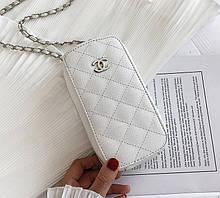 Вертикальная женская сумочка клатч Белый