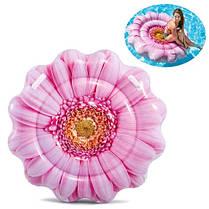 Матрас INTEX 58787 розовый цветок 142-142см ремкомплект в коробке