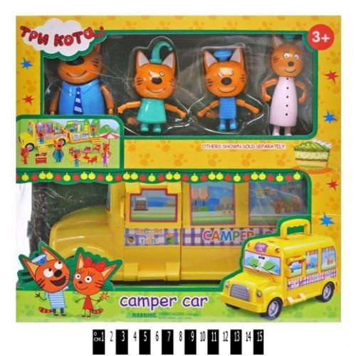 Герои Автобус Три кота в коробке M-8805 р.28 * 10 5 * 29см.