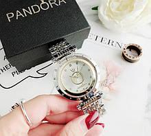 Стильные женские часы Pandora реплика Золото с серебром