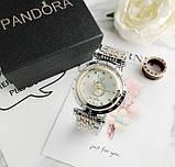 Стильные женские часы Pandora реплика Золото с серебром, фото 5