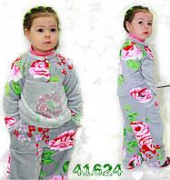 Махровая детская пижама, пижама на девочку, теплая и яркая. Разные размеры. Оптом и в розницу. Украина.