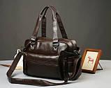 Кожаная мужская сумка Экокожа, фото 5