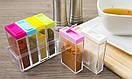 Кухонный набор емкостей для специй с подставкой 6шт Seasoning six-piec set, фото 7