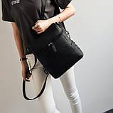 Модная женская сумка рюкзак трансформер, фото 6