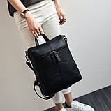 Модная женская сумка рюкзак трансформер, фото 7