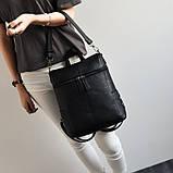 Модная женская сумка рюкзак трансформер, фото 8