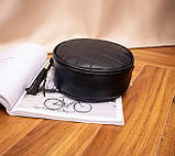 Маленькая женская круглая сумка, фото 2