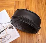 Маленькая женская круглая сумка, фото 3