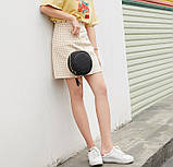 Маленькая женская круглая сумка, фото 4