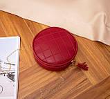 Маленькая женская круглая сумка, фото 8