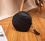 Маленькая женская круглая сумка, фото 9