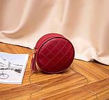 Маленькая женская круглая сумка, фото 10