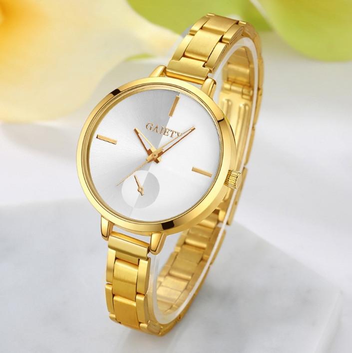 Наручные женские часы браслет Золото