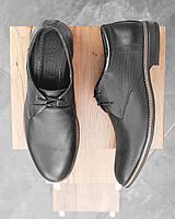 Черные кожаные мужские туфли, фото 1