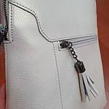Сумка рюкзак кожаный женский белый, фото 2