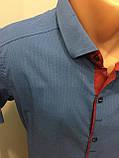 Мужская рубашка с коротким рукавом стрейч M, фото 2