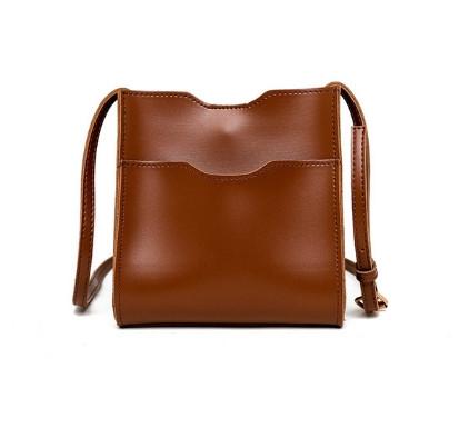 Маленькая женская сумочка через плечо - Коричневая