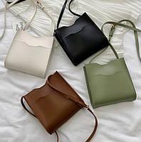 Маленькая женская сумочка через плечо - Коричневая, фото 3