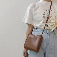 Маленькая женская сумочка через плечо - Коричневая, фото 4