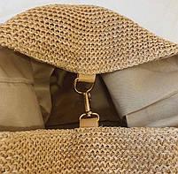 Модная женская сумка через плечо - Плетеный мешочек, фото 5