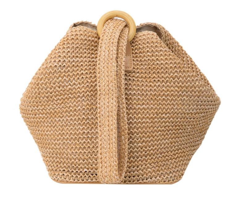 Модная женская сумка через плечо - Плетеный мешочек
