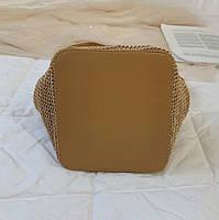 Модная женская сумка через плечо - Плетеный мешочек, фото 9