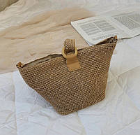 Модная женская сумка через плечо - Плетеный мешочек, фото 8