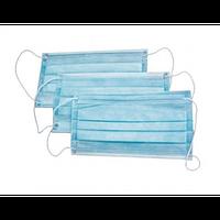 Маска медична тришарова, одноразова, ( пропаяна ) фото оригінальні Мінімальне замовлення від 50 шт.
