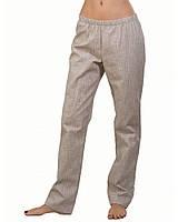 Летние женские брюки натуральный лен
