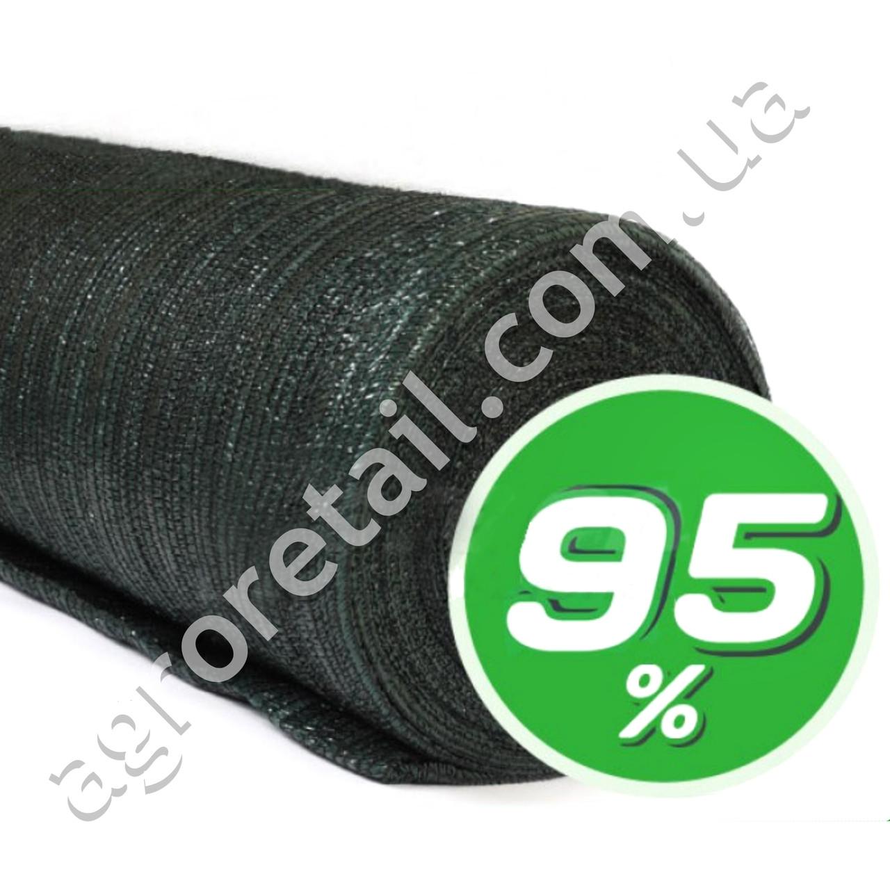 Затеняющая сетка зеленая 95% тени 3x50 м