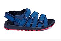 Мужские кожаные сандалии Nike Summer life 435 blue синие, фото 1
