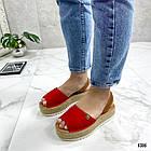 Женские босоножки красного цвета, эко замша 39 ПОСЛЕДНИЙ РАЗМЕР, фото 2