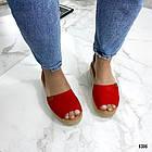 Женские босоножки красного цвета, эко замша 39 ПОСЛЕДНИЙ РАЗМЕР, фото 5