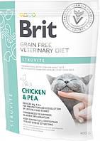 Сухой корм для взрослых Brit VetDiets при струвитном типе МКБ с горохом и курицей 0.4 кг