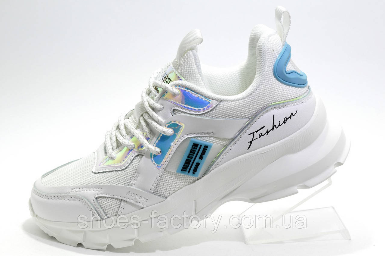 Женские белые кроссовки на высокой подошве Baas 2020